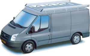 Ford transit model 01-14 aluminium imperiaal